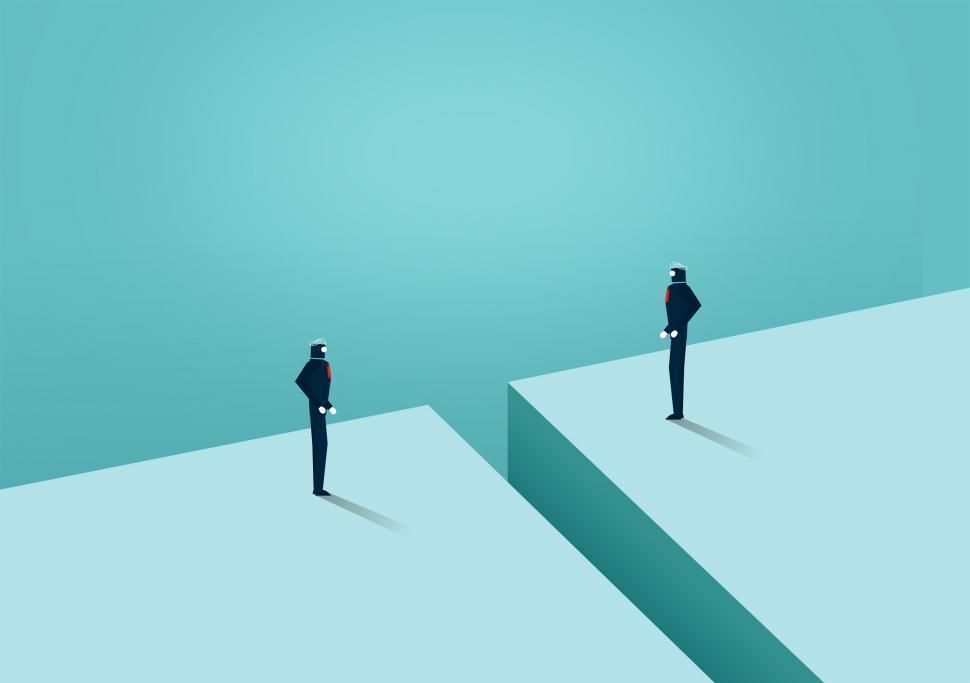 Download Free Stock HD Photo of Face Off - Challenge Between Businessmen - Overcoming Barriers Online