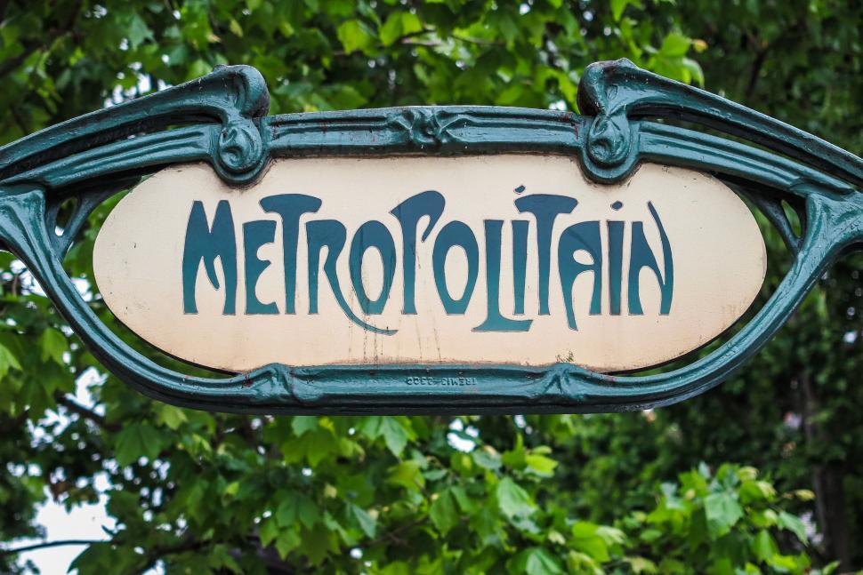 Download Free Stock HD Photo of Old Paris Metro sign Online