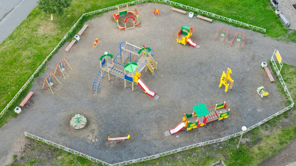 Download Free Stock HD Photo of Empty playground from above Online