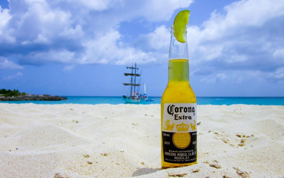 Download Free Stock HD Photo of Beer on the beach Online